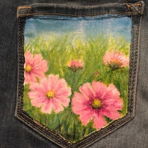 Painted Pocket Jeans